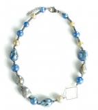 GM0025 Peggy Колье короткое Easy 47см цвет голубой муранское стекло