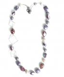 GM0023 Peggy Колье длинное L 80см цвет аметист муранское стекло