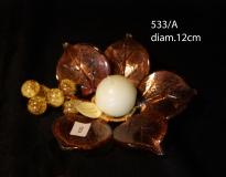 533/A Подсвечник мал. (диам. 12см) муранское стекло
